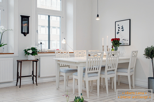 Dining room apartments in Scandinavian style in Gothenburg
