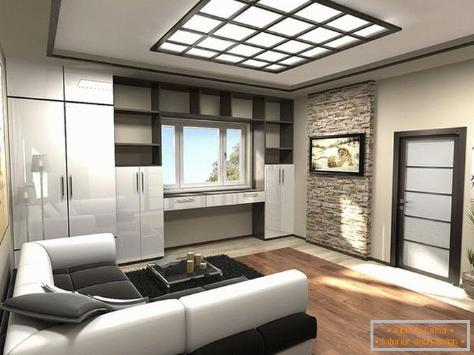 interiors of one-room apartments in a modern style photo, photo 12