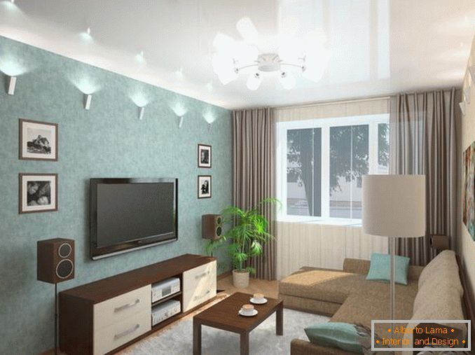 interior of a one-room apartment 18 square meters photo, photo 15
