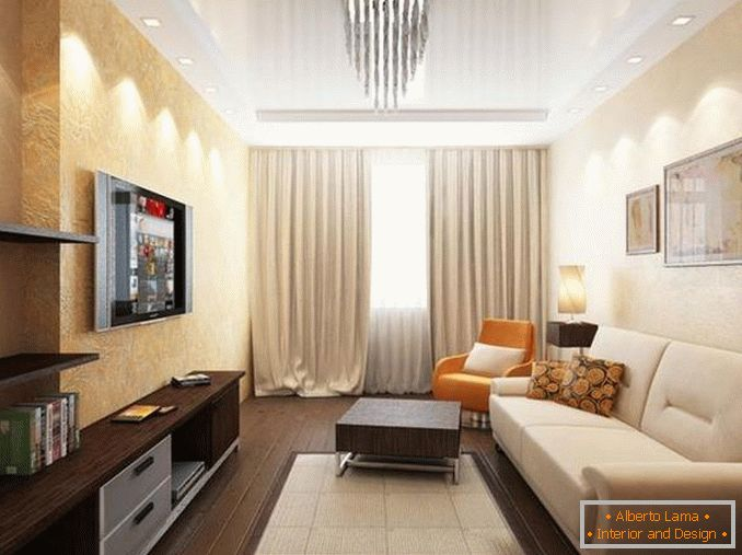 interior of a one-room apartment 18 square meters photo, photo 16