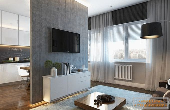 interiors of a one-room apartment 30 square meters photo, photo 24