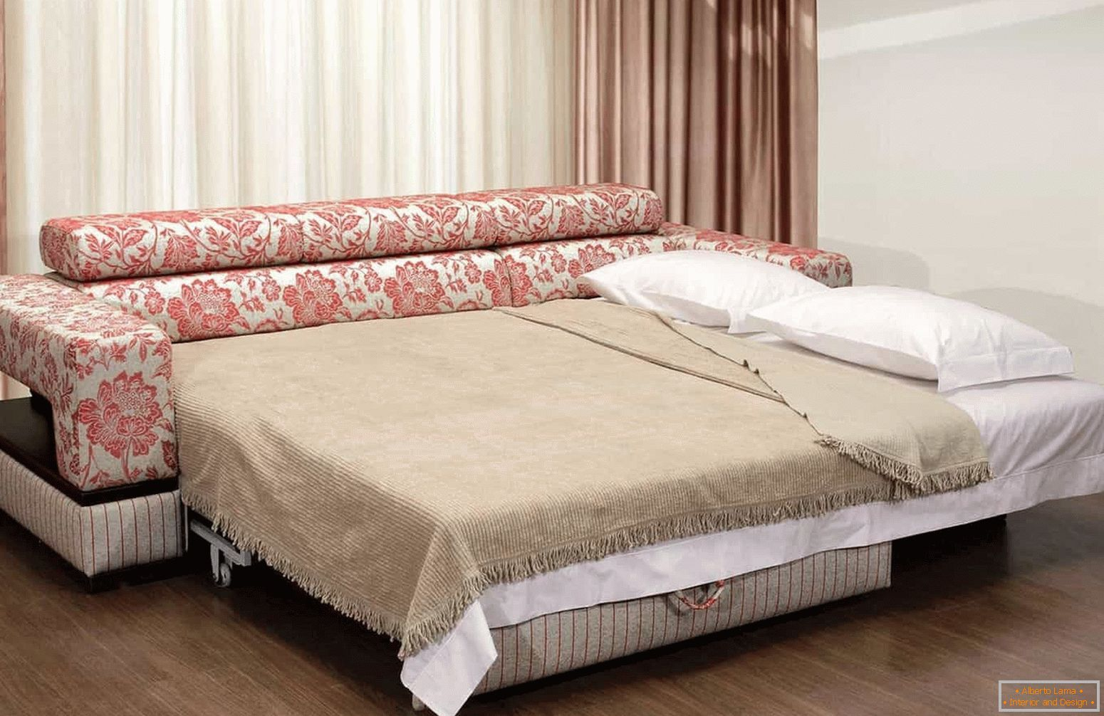 Sofa eurobook with orthopedic mattress - decoration of the living room, childrens room, bedroom