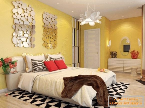 High-tech style in the interior of a girl's bedroom