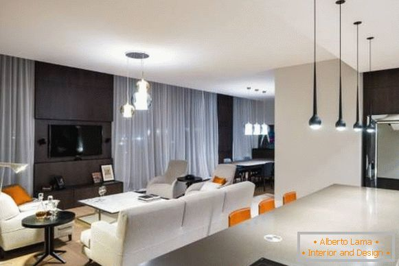 High-tech style in the interior of the apartment
