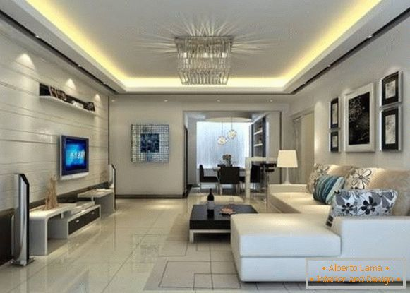 Modern living room in high-tech style