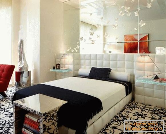 Interior in high-tech style - photo bedroom