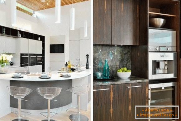 Kitchen in high-tech style - photo of stylish kitchens