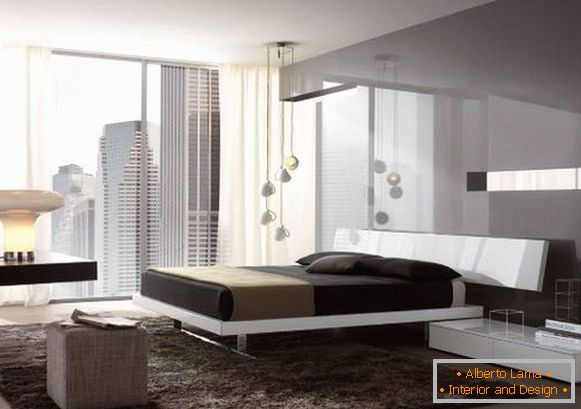 High tech style in bedroom design photo