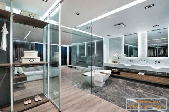 Apartment in high-tech style - bathroom photo