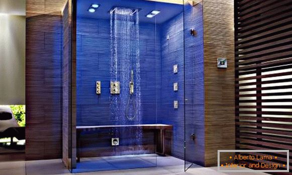 Bathroom in high-tech style - interior photo