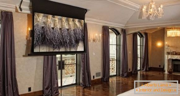 Curtains in high-tech style - photo bedroom
