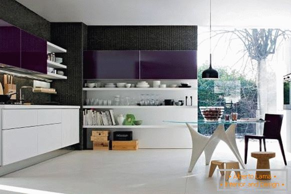 Kitchen furniture in high-tech style