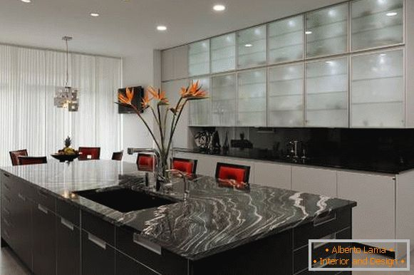 High-tech style in the interior - photo of a beautiful kitchen