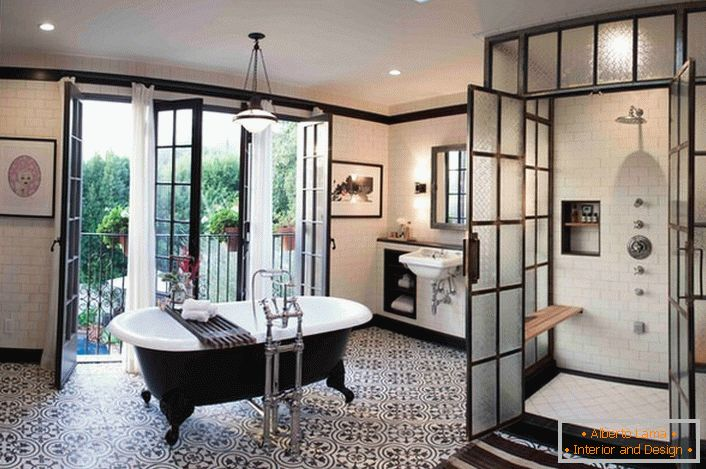Luxurious interior in the bathroom