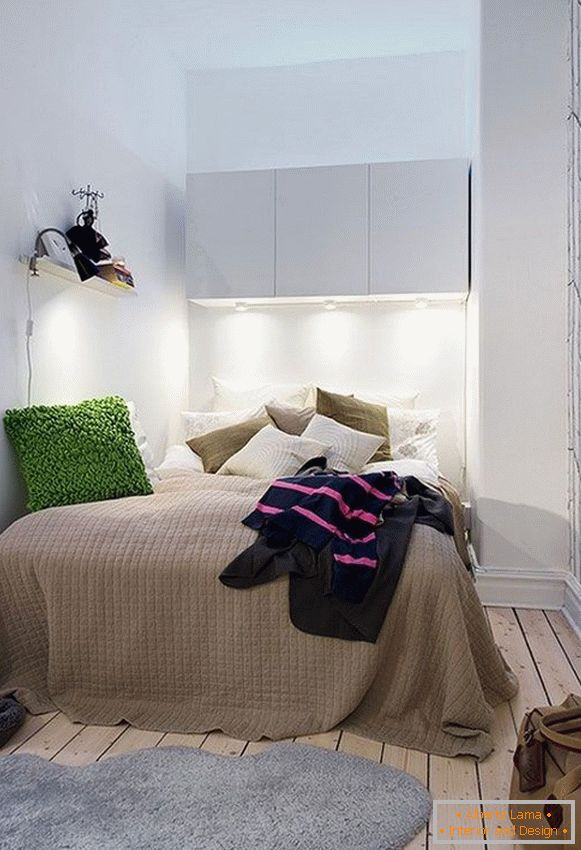 Small bedroom in natural colors