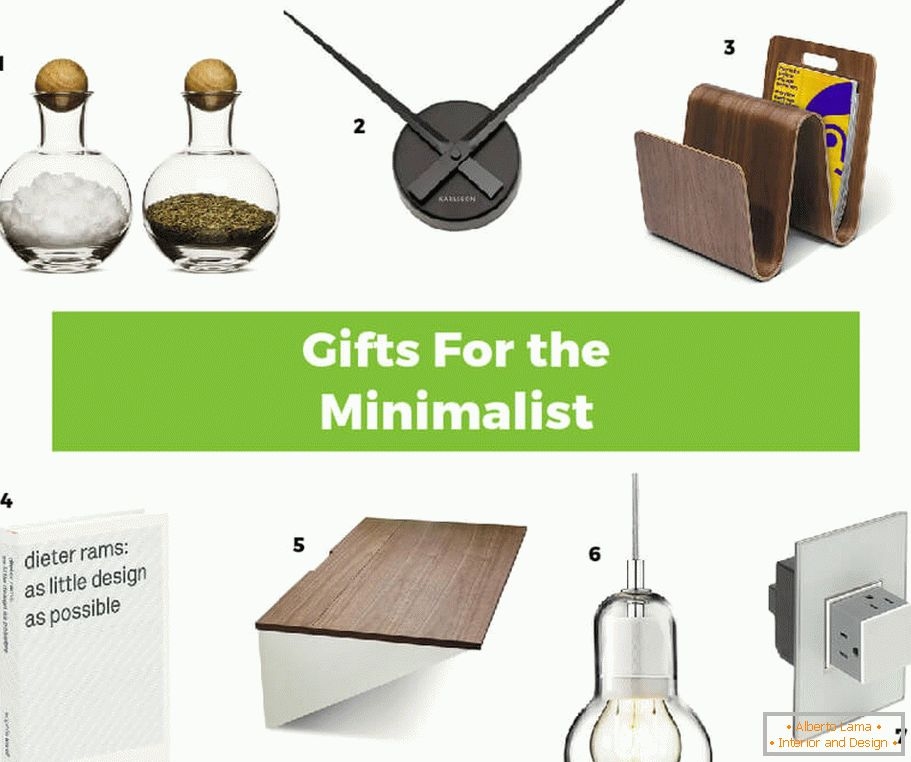 Interesting ideas of gifts in the style of minimalism