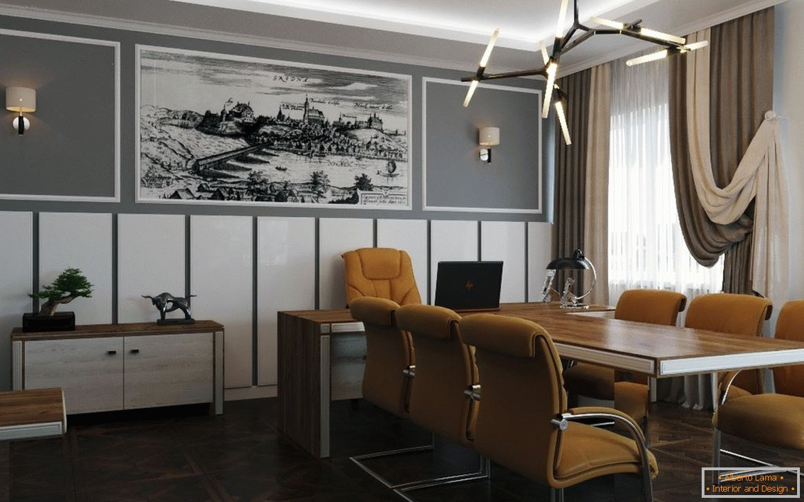 Meeting room in a simple decor