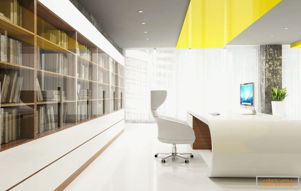 Bright office for a female executive