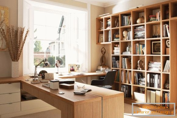 Furniture for an office in an apartment in beige tones photo 4