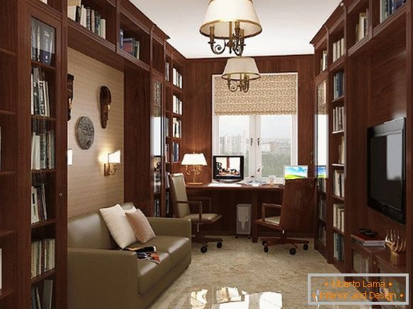 Furniture for an office in an apartment in a classical style photo 5