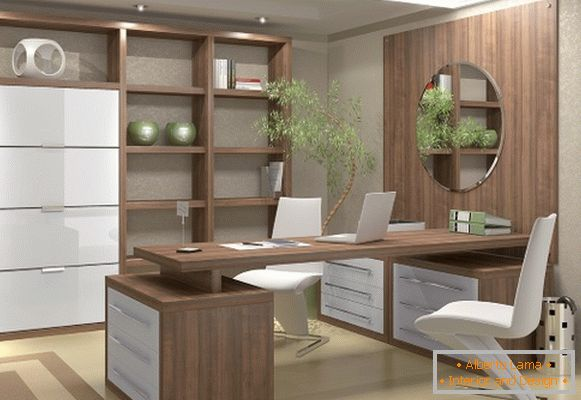 Modern furniture for the cabinet in the apartment photo