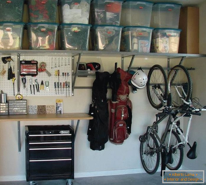 Storage in the garage