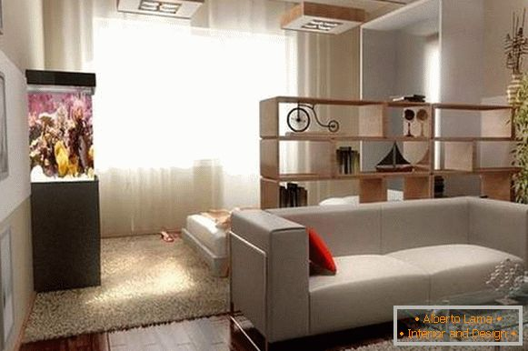 how to arrange furniture in a one-room apartment, photo 1