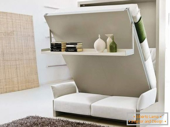 how to arrange furniture in a one-room apartment, photo 15