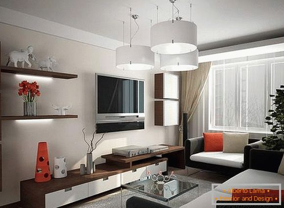 how to properly arrange furniture in a one-room apartment, photo 4