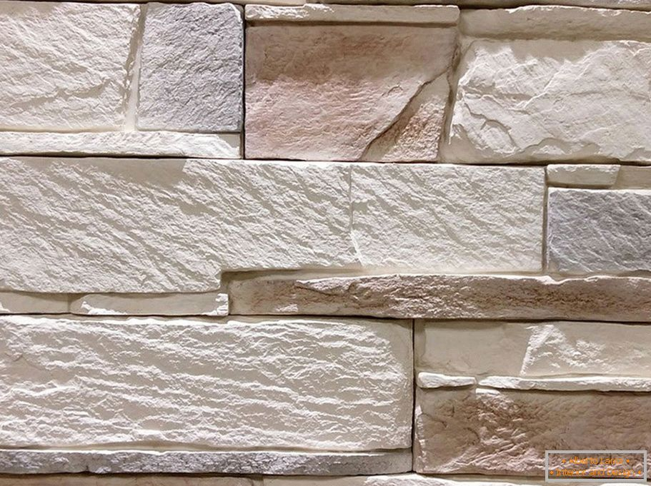 Stone for exterior decoration