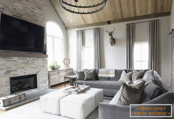 Beautiful room in your house - a combination of materials and styles in the interior