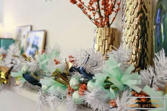 Mint interior decoration for the New Year photo