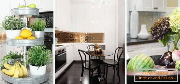 The better to decorate the table in the kitchen - photos of the best ideas