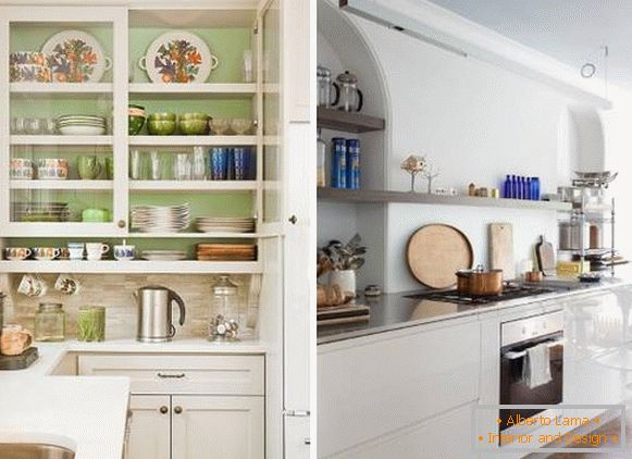 Kitchen decor - original ideas with dishes (photo)