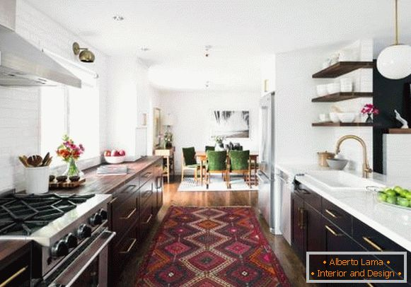 Kitchen decor - original ideas - photo with carpet