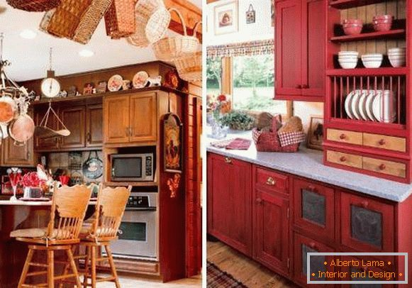 How to decorate the kitchen with small details in a rustic style
