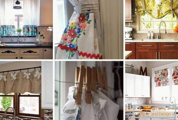 How to decorate a window in the kitchen with curtains