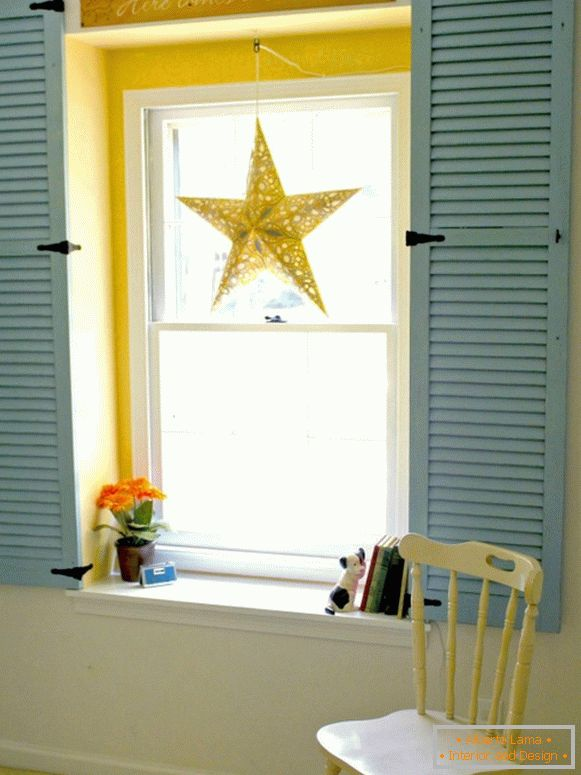Stylish design of the window in the interior with old things