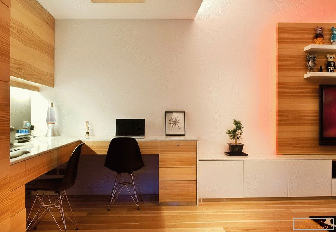 Laminate in the design of the living room