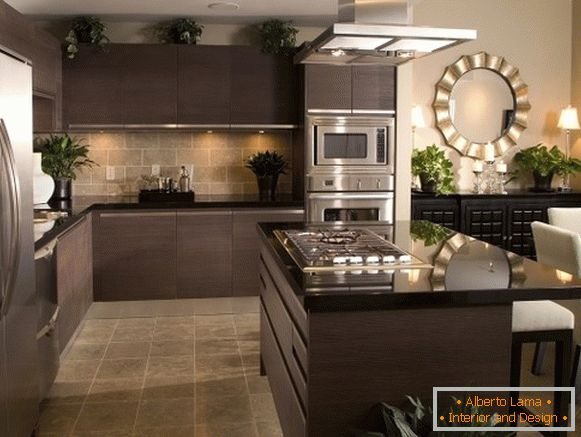 угловая kitchen furniture для просторной кухни