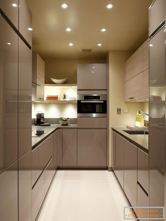 Narrow small kitchen 2015