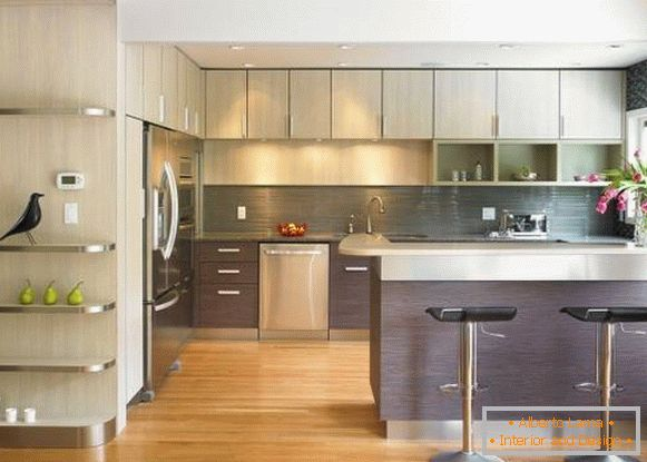 Kitchen design with bar counter 2015