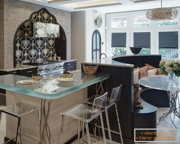 Kitchen design in Moorish style