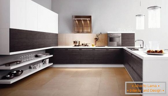 Beautiful kitchen in the style of luxury minimalizm