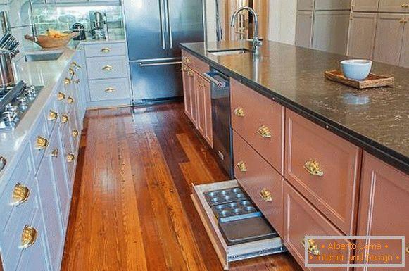 Furniture accessories for gold in kitchen design