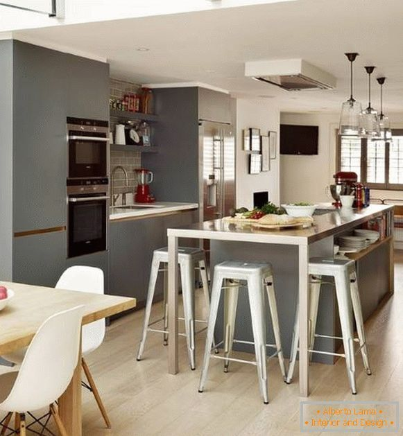 Beautiful Gray Kitchen 2015