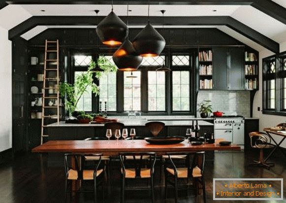 Beautiful dark kitchen furniture