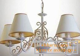 White ceiling lamps in the style of Provence