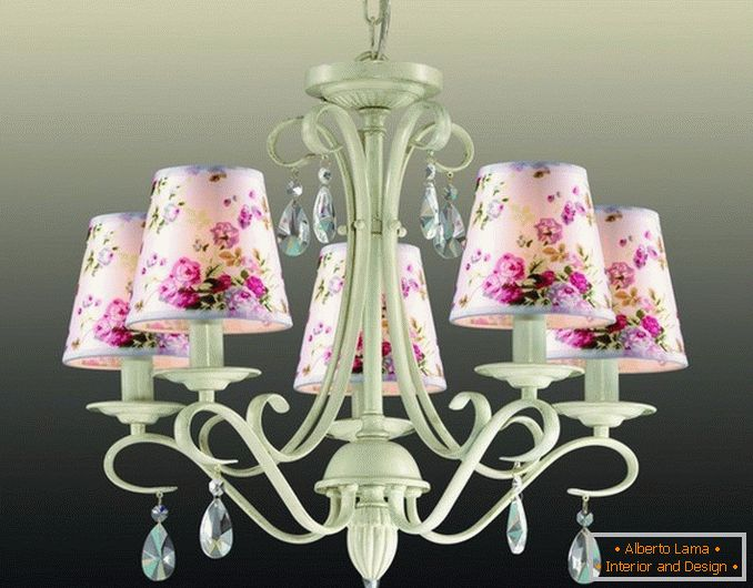 Colorful ceiling lamps in the style of Provence