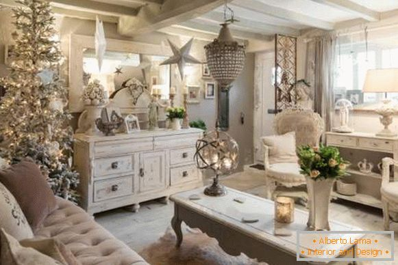 New Year's interior in the style of Provence